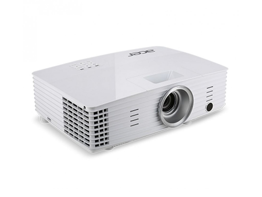 Acer P1185 DLP white projector ( 3D ready ) with remote control  3W speaker  carry case - SVGA ( 800x600 ) , 3200ansi , contrast ratio 20000:1  video input : HDMi  RCA  d-sub(inout)  s-video  USB  3.5mm audio inout  86x308x211mm , 2.3kg