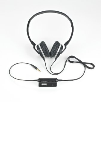 Audio-Technica ATH-ANC1 QuietPoint Active Noise-Cancelling On-Ear Headphones (Bargain Bin)
