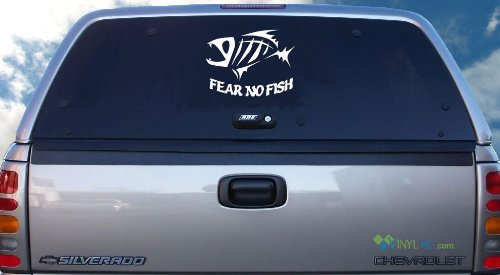 Fear No Fish Decal - White