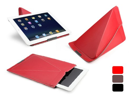 DreSuit Smart Stand Sleeve for iPad/iPad 2/new iPad with FREE Premium Clear Screen Protecto