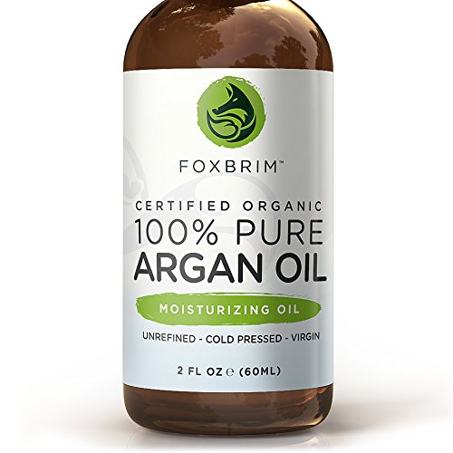 BEST ORGANIC Argan Oil for Hair, Face, Skin and Nails - 100% Pure Certified Organic Argan Oil - GUARANTEED to Provide Beautifully Healthy, Nutrient-Rich Moisture... Known as Liquid Gold for the HUGE list of Uses & Benefits - Anti Aging, Vitamin E - Cold P