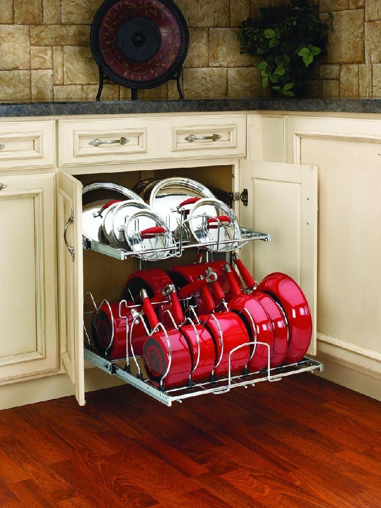 Rev-A-Shelf - 5CW2-2122-CR - 21inch Two-Tier Cookware Organizer
