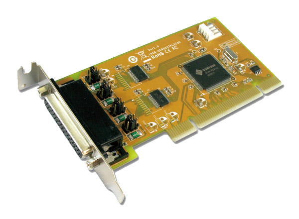 Sunix SER5037AL RS-232 2-port Low Profile Powered PCI Card