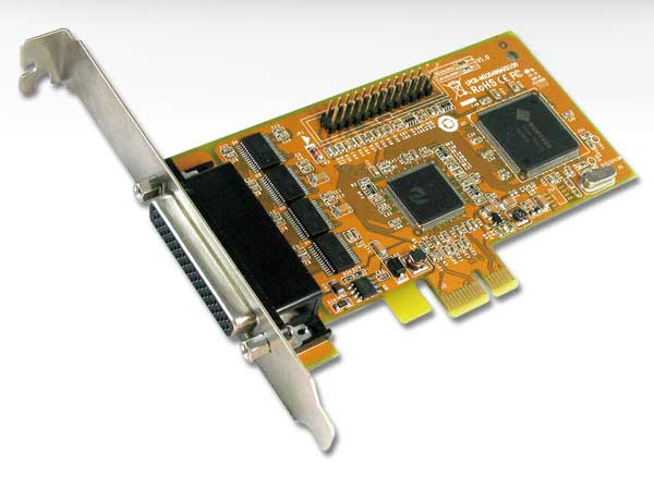 Sunix MIO5499A 4x RS-232 + 1x Parallel PCI-E Card