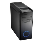 Lian-li PC-B25F Midi Tower Black with Blue Ring no PSU ATX