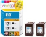 HP CB331HE No.131 Black Ink Cartridge 2-Pack