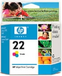 HP C9352AE No.22 Tri-Colour Ink Cartridge