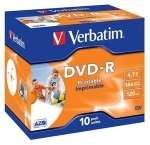 Verbatim 16x DVD-R Wide Inkjet Printable - 10 pack