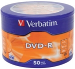 Verbatim DVD-R Matt Silver 50 Pack Wrap Spindle