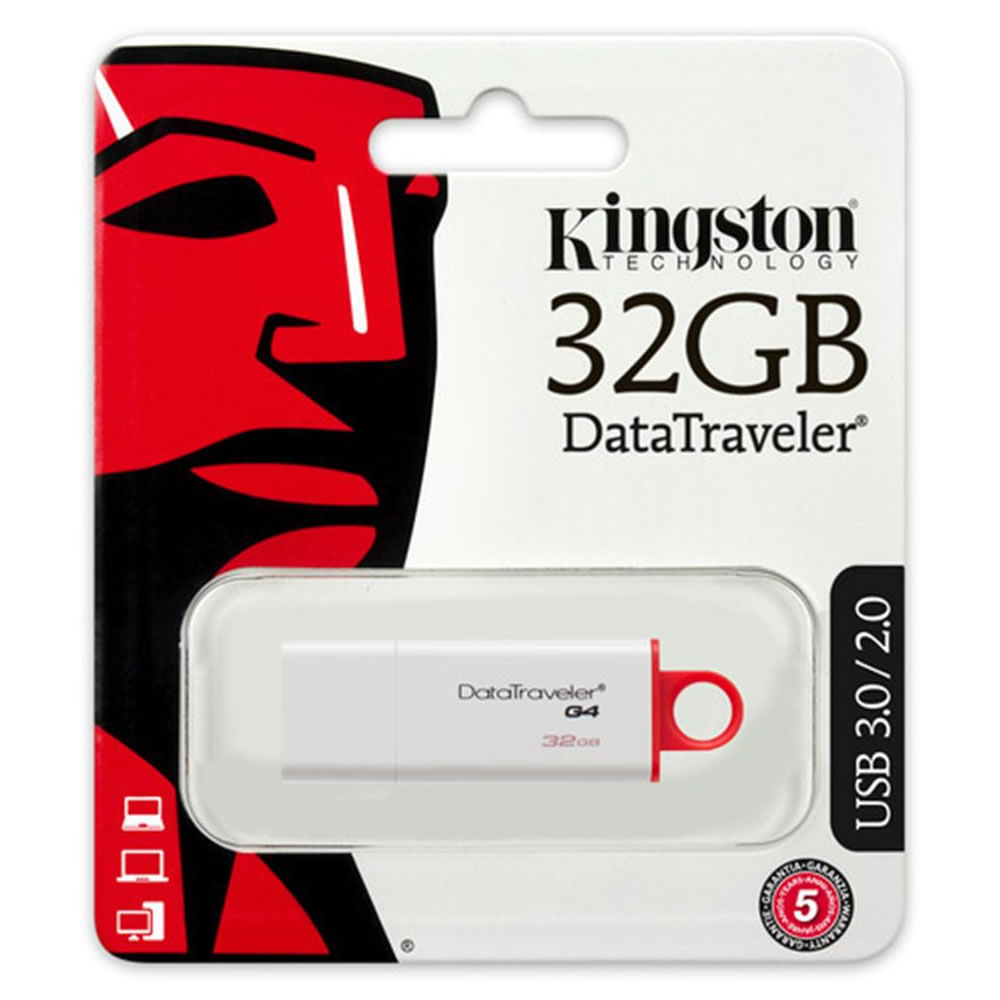 Kingston Datatraveler G4 DTiG4 USB 3.0 Flash Drive - 32GB