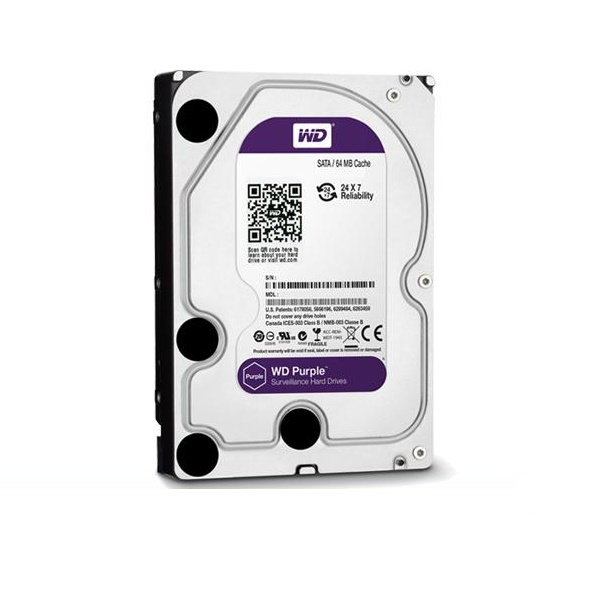 Western Digital Purple 3.5 Inch Internal SATA 3 Hard Drive - 3TB
