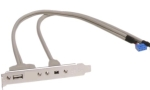 Unbranded 1x USB + 1x Firewire-Mini ( 4pin ) cable set