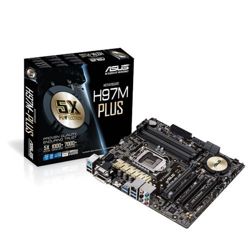Asus H97M-PLus : all-in-one LGA1150 Motherboard