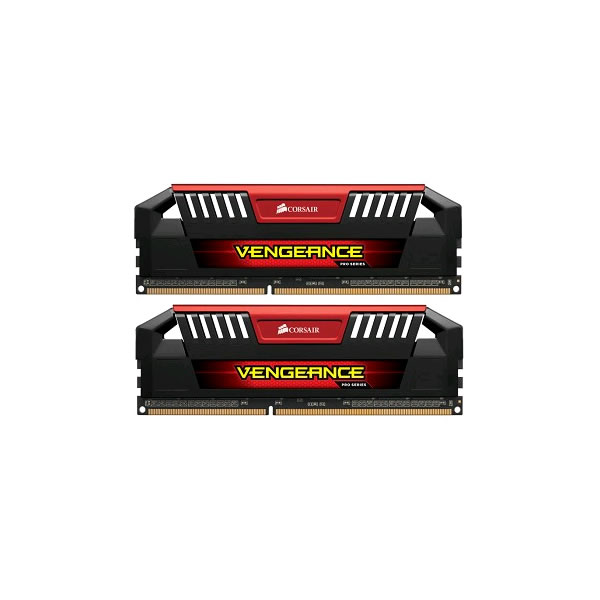 Corsair Vengeance Pro DDR3 2133MHz CL9 Desktop Memory Modules - 2 x 4GB (Black and Red)