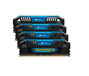 Corsair Vengeance Pro CMY32GX3M4A1600C9B, 32GB (4x 8GB) kit, DDR3-1600, CL9, 1.5