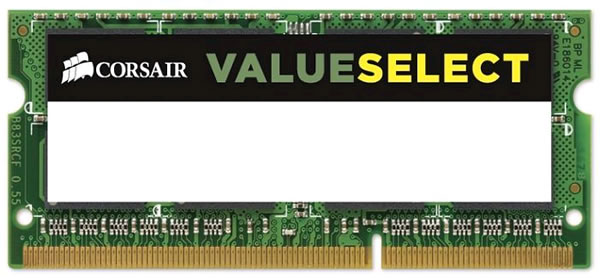 Corsair Valueselect DDR3L 1600MHz CL11 Laptop Memory Module - 4GB