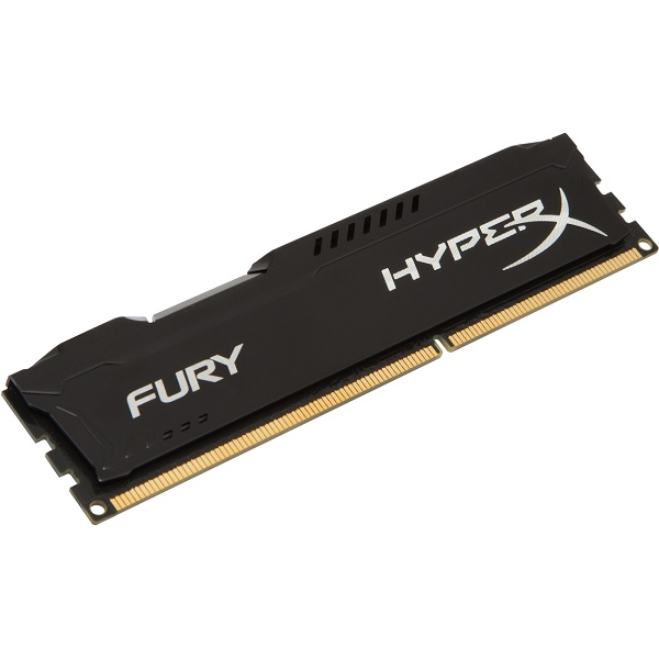 Kingston HyperX Fury DDR3 1600MHz CL10 Desktop Memory Module - 4GB (Black)