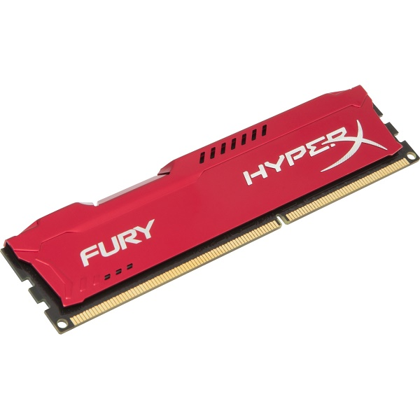 Kingston HyperX Fury DDR3 1600MHz CL10 Desktop Memory Module - 4GB (Red)