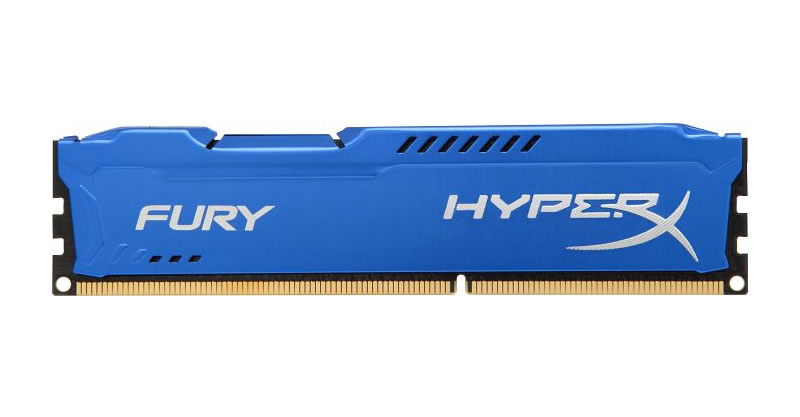 Kingston HyperX Fury DDR3 1866MHz CL10 Desktop Memory Module - 8GB Kit (2 x 4GB) (Blue)