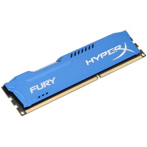 Kingston HyperX Fury DDR3 1600MHz CL10 Desktop Memory Module - 8GB (Blue)