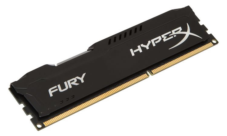 Kingston HyperX Fury DDR3 1600MHz CL10 Desktop Memory Module - 8GB (Black)