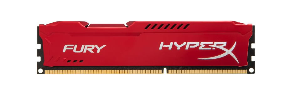 Kingston HyperX Fury DDR3 1600MHz CL10 Desktop Memory Module - 8GB (Red)
