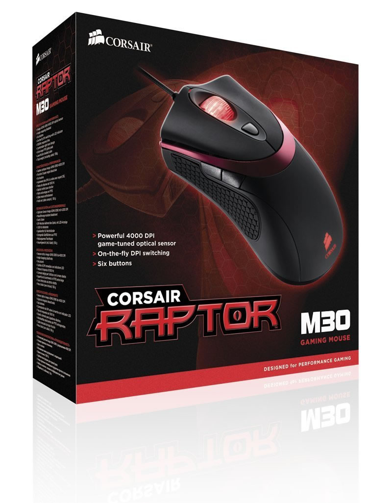 Corsair Raptor M30 optical gaming mouse
