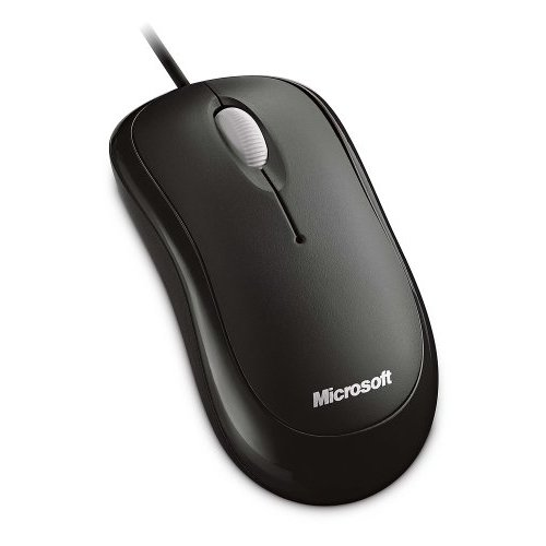 Microsoft Basic Optical Black, 400dpi, 1500FPS, 3 buttons optical mouse, USB + P