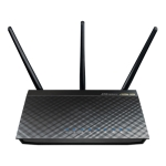 Asus RT-AC66U dualband wireless-AC1750 gigabit Router built-in
