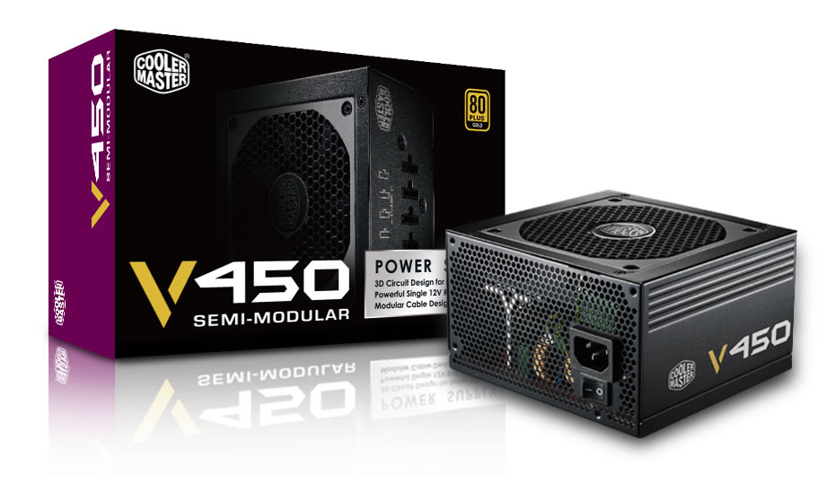 Cooler Master Vanguard-S RS450-AMAAG1 Semi-Modular Power Supply - 450w