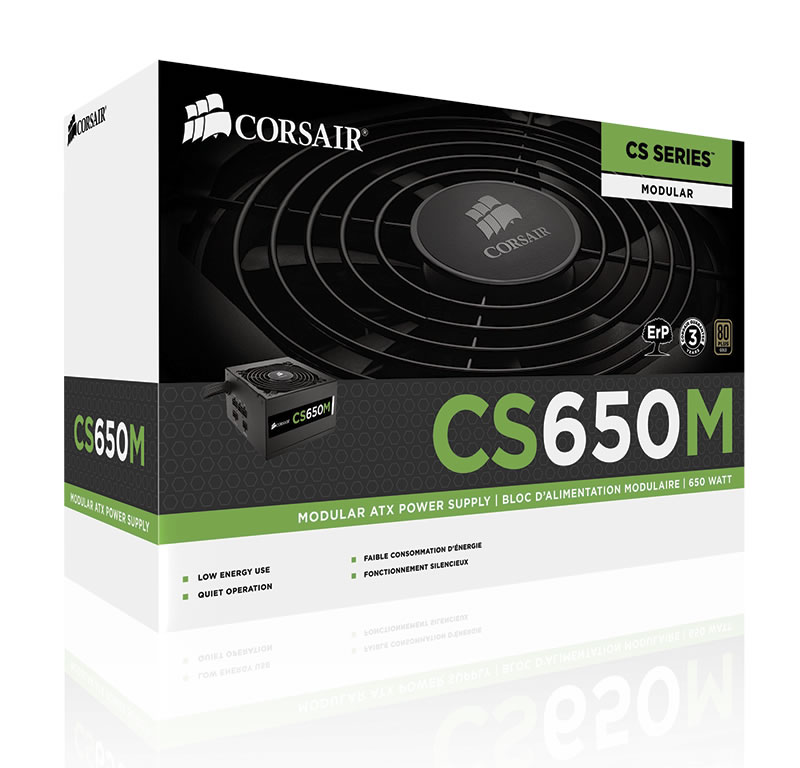 Corsair CS650M Semi-Modular Power Supply - 650w
