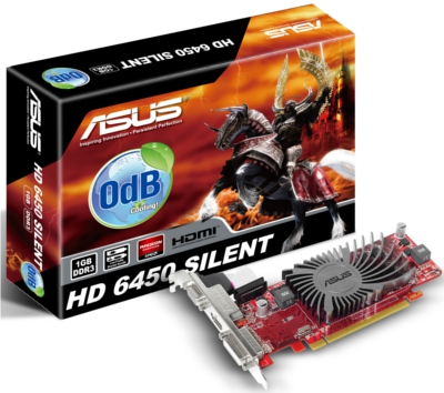 Asus EAH6450 SILENT/DI/1GD3(LP) HD6450 1GB AMD Radeon HD 6450 Graphics Card