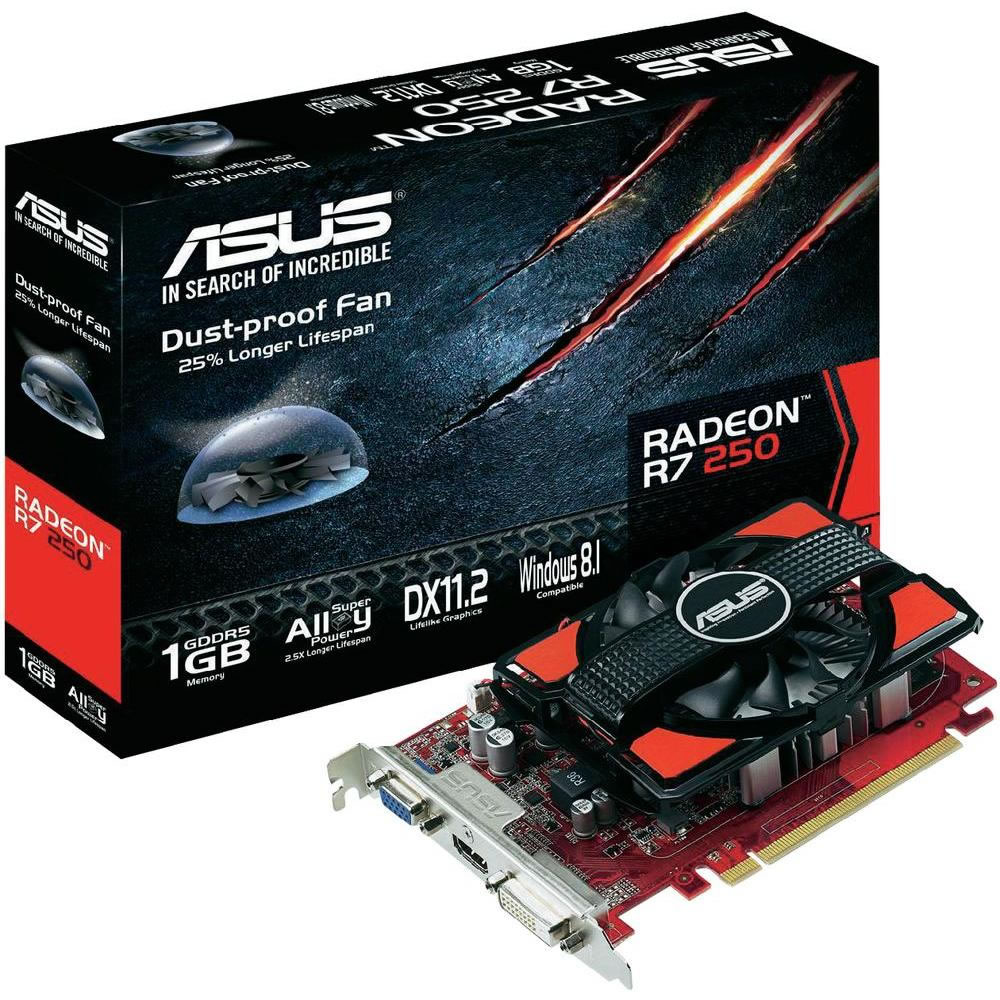 Asus AMD Radeon R7 250 1GB Graphics Card - PCI-E 3.0