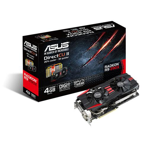 Asus AMD Radeon R9 290X 4GB DirectCU II OC Graphics Card - PCI-E 3.0