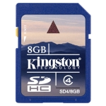 Kingston Class 4 8GB SDHC Card