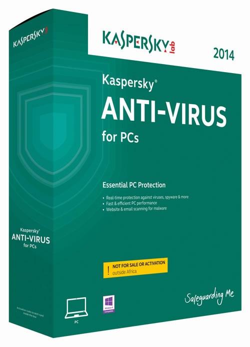 Kaspersky Anti-Virus 2014 (2 Users / 1 Year)