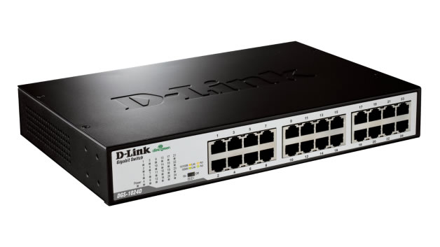 D-Link DGS-1024 Gigabit (10/100/1000Mbps) Unmanaged 24-Port Switch