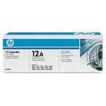 HP 12A Black Dual Pack LaserJet Toner Cartridges (Q2612AD), Blac