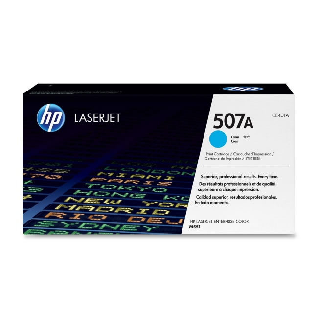 HP CE401A no.507a cyan toner , 6000pages - for HP color M551 series