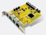 Sunix PUB1210P - 1x24v + 2x12V + 1x5v powered usb pci card
