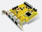Sunix PUB1300P - 1x24v + 3x12V powered usb pci card