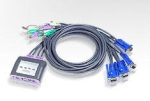 ATEN 4 Port PS/2 Cable KVM Switch with Speaker