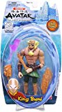 Avatar The Last Air Bender Water Series 6 Inch Tall Action Figure - King Bumi with Rock Sword, Rock Shield, Crystal Mace and Rock Mace