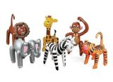 6 Assorted Inflatable Safari Zoo Animals