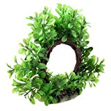 Jardin Plastic Curve Design Fish Tank Aquarium Green Artificial Water Plant Ornament, 6-Inch