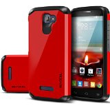 Alcatel One Touch Fierce 2 Case, Evocel® Dual Layer Armor Case For Alcatel One Touch Fierce 2 7040T (T-Mobile) - Retail Packaging, Fire Engine Red