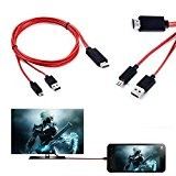 MHL micro USB to 1080P HDMI HDTV Cable Adapter Cord For Samsung Galaxy Note 4 by Beyond3C