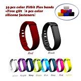 Niutop Fashion Multicolor Set of 10pcs Large/small Replacement Wristband Wrist Bands with Clasps for Fitbit Flex Only /No Tracker/ Wireless Activity Bracelet Sport Wristband Fit Bit Flex Bracelet Sport Arm Band Armband(no Tracker, Replacement Bands Only).