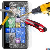Nokia Lumia 625 Tempered Glass Crystal Clear LCD Screen Protector Guard & Polishing Cloth SVL5 BY SHUKAN®, (TEMPERED GLASS)