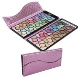 A-TT-121 Professional 100 Color Rose Glitter Eyeshadow Palette Cosmetic Set with Luxury Evening Party Bag